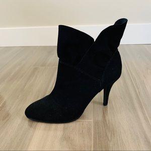 Nine West Black Tulip Ankle Boots, size 7